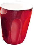 INCASA 220ml LATTE CUP RED
