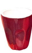 INCASA 90ml MACHIATTO CUP RED