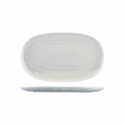 MODA OVAL COUPE PLATE 355X215MM WILLOW (12ctn)