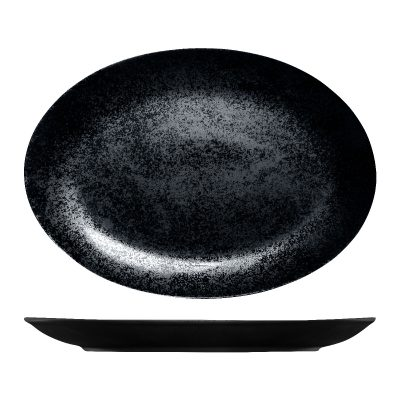 RAK KARBON OVAL PLATE 360MM BLACK