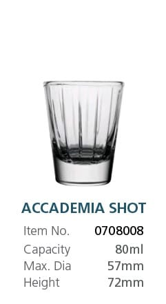 VIDIVI ACCADEMIA SHOT GLASS 80ML