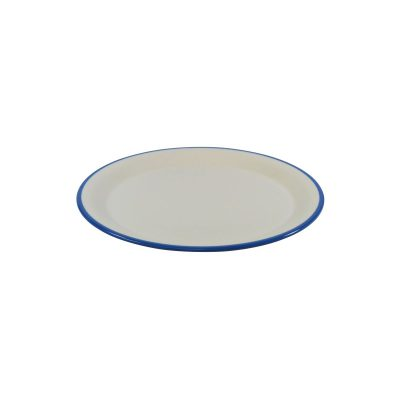 JAB VINTAGE CREAM/BLUE RIM ROUND PLATE 190mm