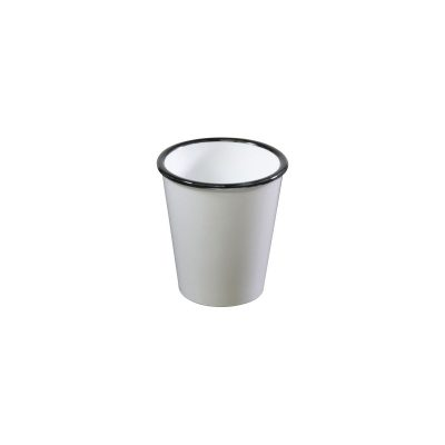 JAB VINTAGE WHITE/BLACK RIM TUMBLER 80X90MM
