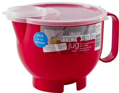 DECOR BAKE  JUG W/LID 2LTR ROUND