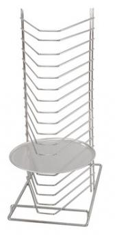 PIZZA RACK STAND  BENCH TOP 15-SLOT