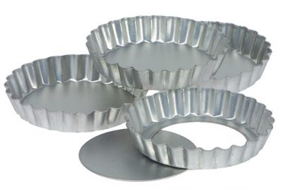 QUICHE PAN LOOSE BASE 200×22 FLUTED