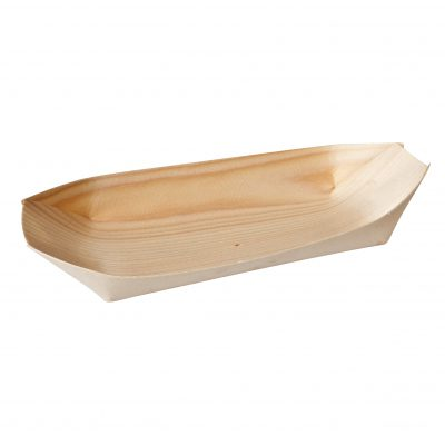 BAMBOO DISPOSABLE OVAL BOAT 115MM (50pcs)