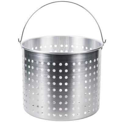 PERFORATED STOCKPOT BASKET ALU 460x400mm [X-large]