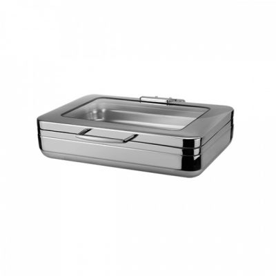ATHENA PRINCE INDUCTION CHAFER 1/1 WITH GLASS LID
