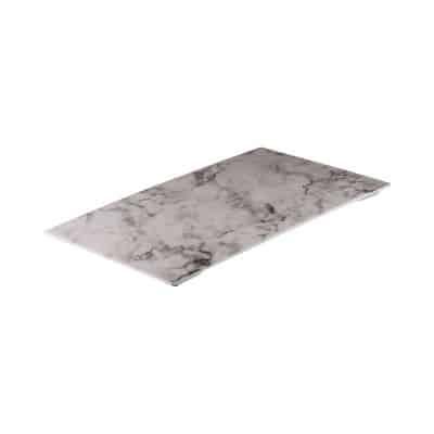 RYNER MELAMINE RECT PLATTER WHITE MARBLE 325X265MM