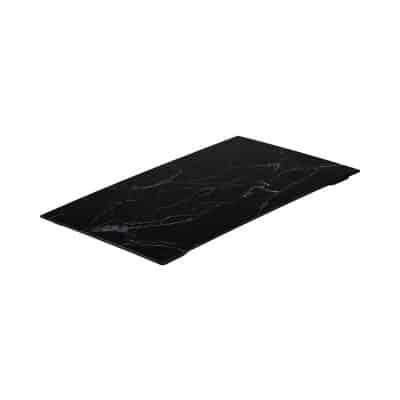 RYNER MELAMINE PLATTER COUPE BLACK MARBLE 30X230MM