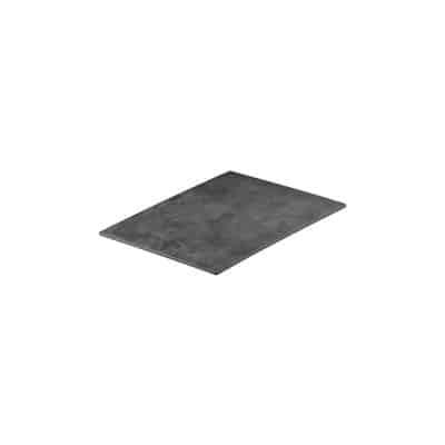 RYNER MELAMINE RECT PLATTER LIGHT CONCRETE 265X160