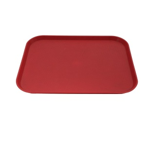 TRAY PLASTIC 45X35CM RED