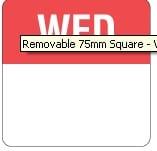 DayDots Square 75mm WEDNESDAY (500)