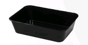 Takeaway Container BLACK 650ml Rectangle (500pcs)