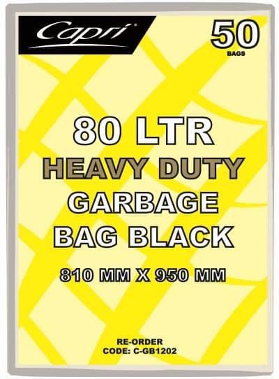 GARBAGE BAG 80Ltr HD on roll [250pcs/ctn]
