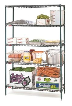 METRO SHELVING 4 TIER 1220x455mm