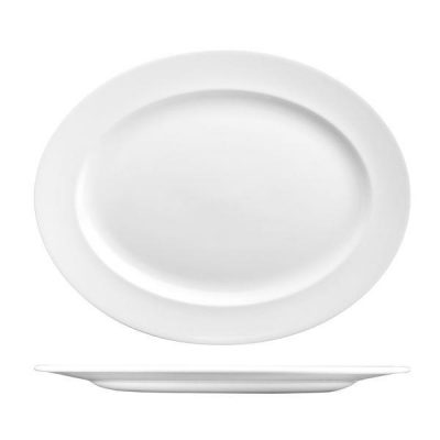 CHURCHILL CLASSIC OVAL PLATE-WIDE RIM, 365x293mm