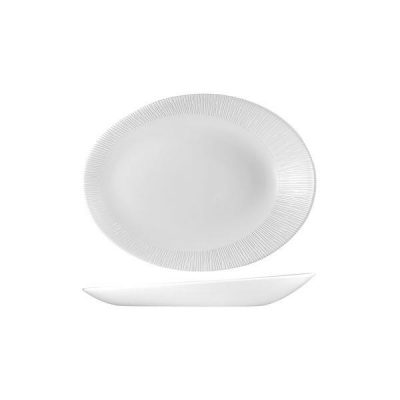 CHURCHILL BAMBOO ORB OVAL PLATE-250x194x32mm
