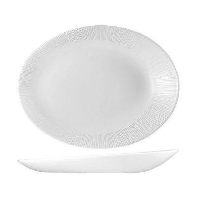 CHURCHILL BAMBOO ORB OVAL PLATE-346x263x50mm