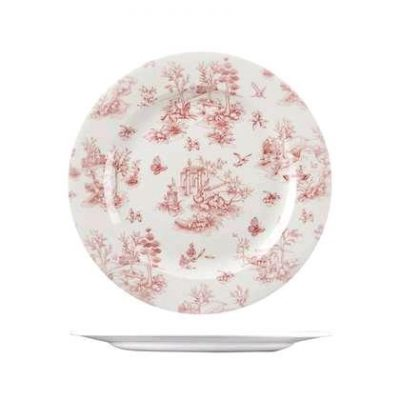 CHURCHILL VINTAGE PRINTS PLATE CRANBERRY(T), 215mm