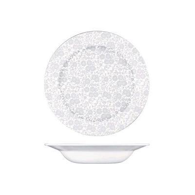 CHURCHILL VINTAGE PRINTS PASTA BOWL WHITE(VL)250mm
