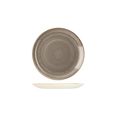 CHURCHILL STONECAST PLATE-COUPE, 165mm PEPPERCORN