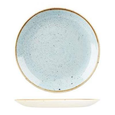 CHURCHILL STONECAST PLATE-COUPE, 260mm, DUCK EGG