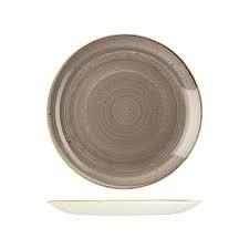 CHURCHILL STONECAST PLATE-COUPE, 260mm PEPPERCORN