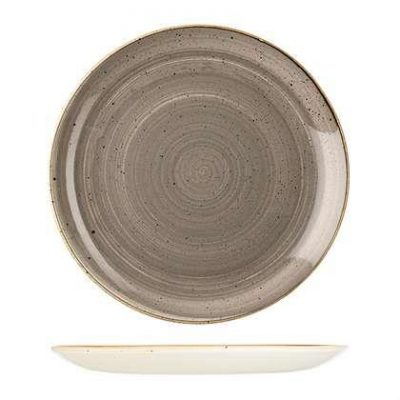 CHURCHILL STONECAST PLATE-COUPE, 288mm PEPPERCORN