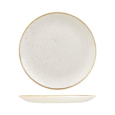 CHURCHILL BARLEY WHITE ROUND COUPE PLATE 288MM