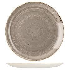 CHURCHILL STONECAST PLATE-COUPE, 324mm PEPPERCORN