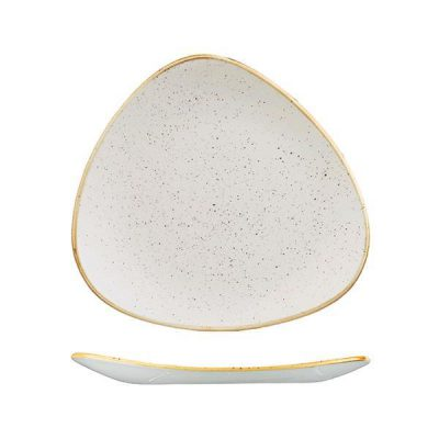 STONECAST TRIANGULAR PLATE 229mm WHITE