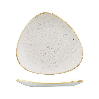 STONECAST TRIANGULAR PLATE 265mm WHITE