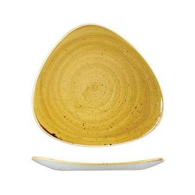 CHURCHILL STONECAST TRIAN PLATE-300mm, MUSTARD