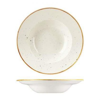 CHURCHILL STONECAST BOWL 240mm Ø, BARLEY WHITE