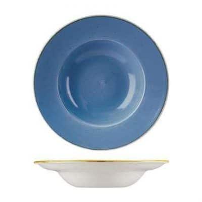 CHURCHILL STONECAST BOWL-WIDE RIM(CB), 280mm Ø Blue