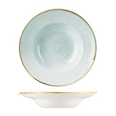 CHURCHILL STONECAST SQUARE PLATE 268mm, DUCK EGG