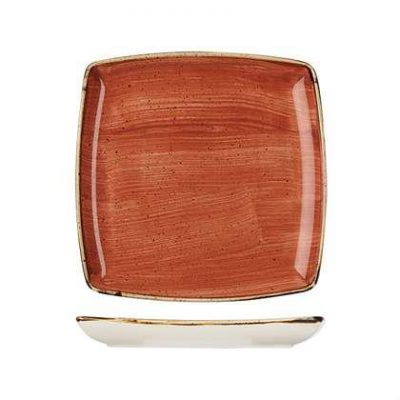 CHURCHILL STONECAST SQUARE PLATE 268mm, SPICED