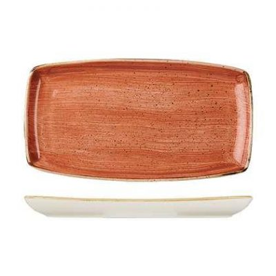 CHURCHILL STONECAST OBLONG PLATE295x150mm SPICED