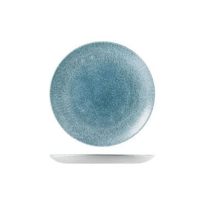 CHURCHILL RAKU BLUE TOPAZ PLATE 216mm