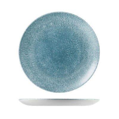 CHURCHILL RAKU PLATE-COUPE, 288mm, TOPAZ BLUE