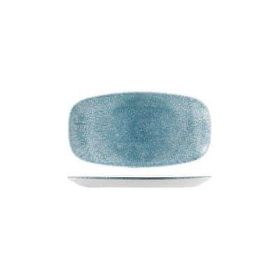 CHURCHILL RAKU CHEFS PLATE-298x153mm, TOPAZ BLUE