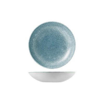 CHURCHILL RAKU BLUE TOPAZ BOWL 182mm
