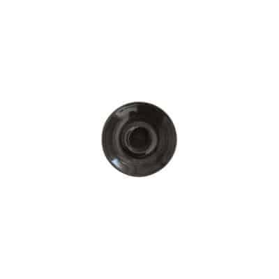 CHURCHILL MONOCHROME  CAPP SAUCER-156mm, BLACK