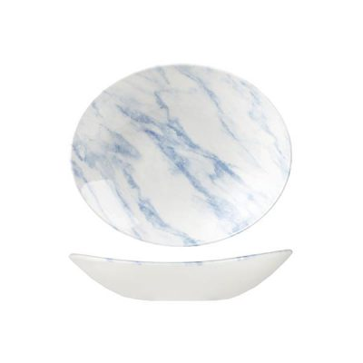 CHURCHILL OVAL BLUE MARBLE BOWL