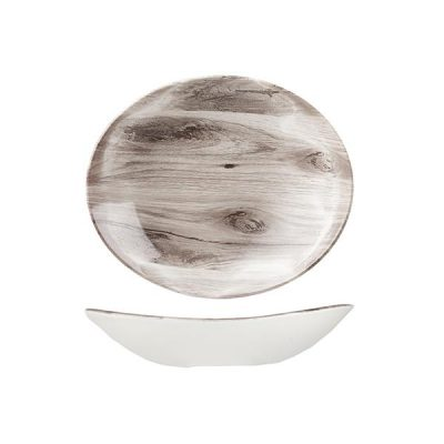 CHURCHILL OVAL SEPIA WOOD BOWL