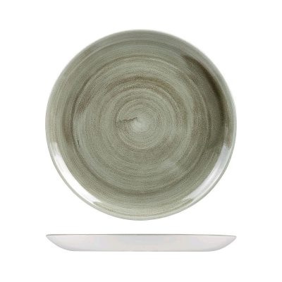 CHURCHILL PATINA ROUND PLATE 165MM BURNISHED GREEN
