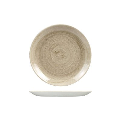 CHURCHILL PATINA ROUND PLATE 217MM TAUPE