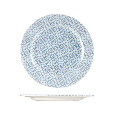 CHURCHILL MORESQUE ROUND PLATE-276mm, BLUE